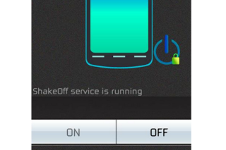 Lock your android phone via shake