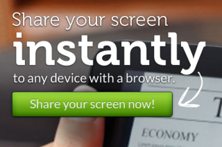 Share your screen with other without any software via screenleap