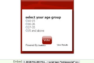 Create polls on your webpage via pollmo