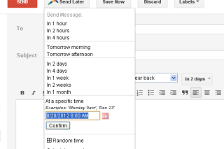Boomerang schedule you mail in advance and send it automatically