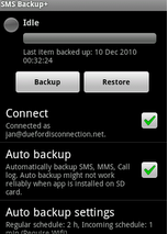 Back up your SMS into you Gmail account via SMS Backup plus