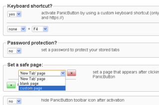 Hide and restore tabs via simple mouse clicks
