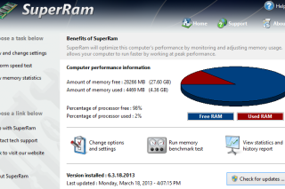 SuperRam boosting memory and speed up your computer