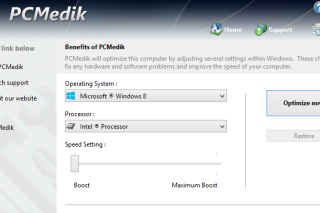 PCMedik fixes common problems and increases the system performance
