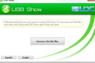 Show hide files in USB via USB show