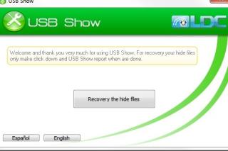 Show hide files in USB via USB show