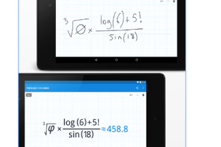 MyScript Calculator convert handwriting into digital text and deliver instant result
